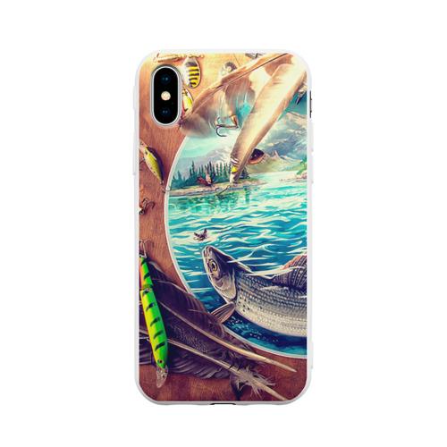 Чехол для iPhone X матовый Рыбацкое