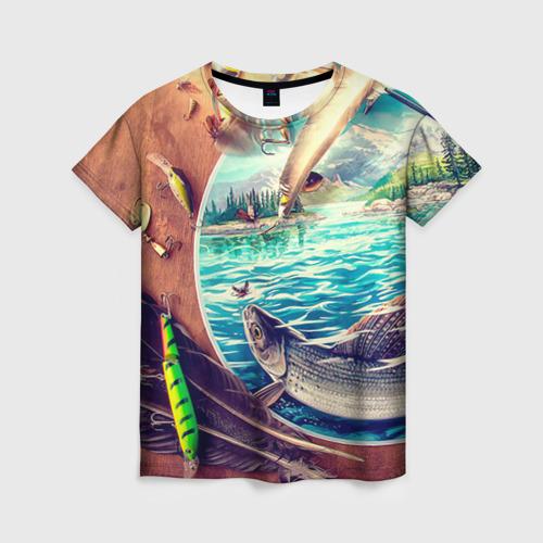 Женская футболка 3D Рыбацкое