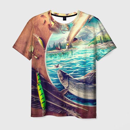 Мужская футболка 3D Рыбацкое