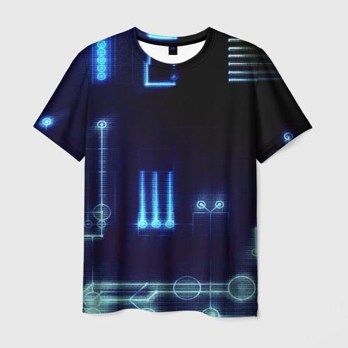 Мужская футболка 3D Схема