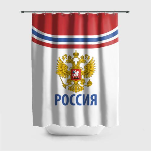 Штора 3D для ванной Путин