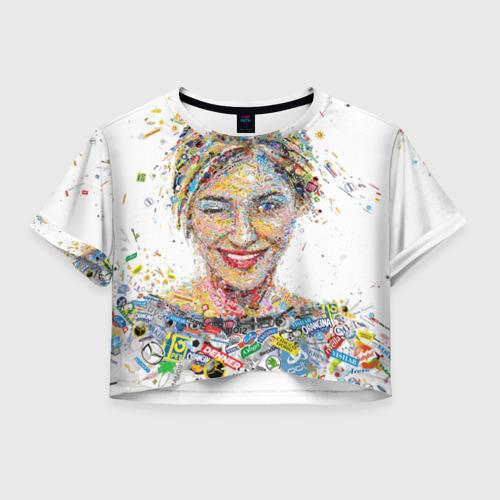 Женская футболка Crop-top 3D brands