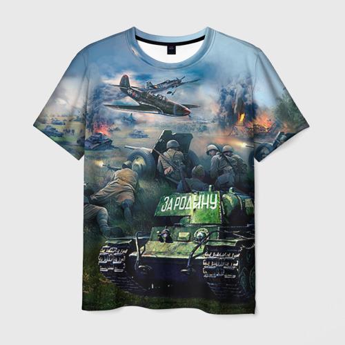 Мужская футболка 3D За родину