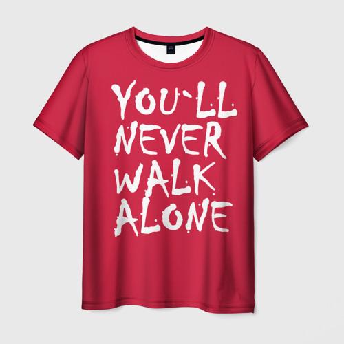 Мужская футболка 3D YOU`LL NEVER WALK ALONE
