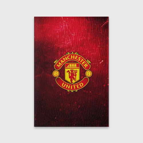 Обложка для паспорта матовая кожа Манчестер Юнайтед