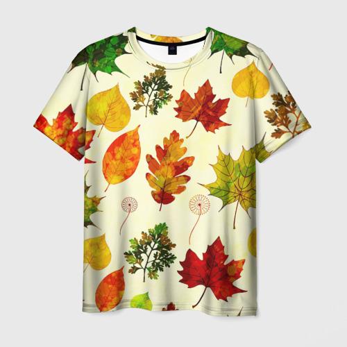 Мужская футболка 3D Осень