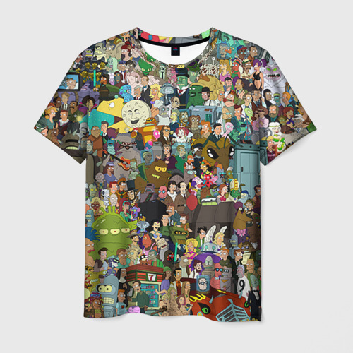 Мужская футболка 3D Futurama