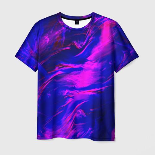 Мужская футболка 3D Глянцевые краски