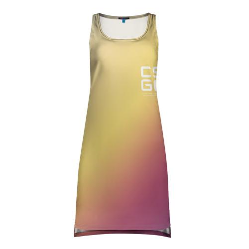 Платье-майка 3D cs:go - Fade Glock18 Style (Градиент)