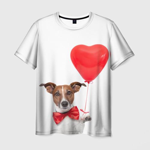 Мужская футболка 3D Собака