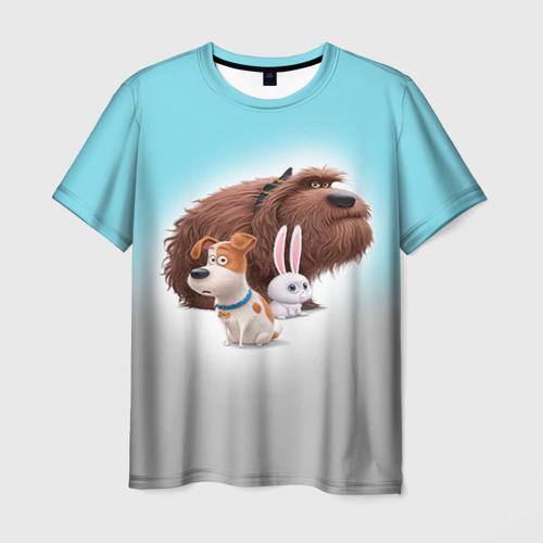 Мужская футболка 3D Тайная жизнь