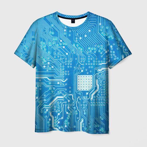 Мужская футболка 3D Системная плата
