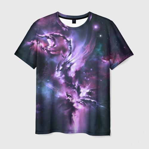 Мужская футболка 3D Space