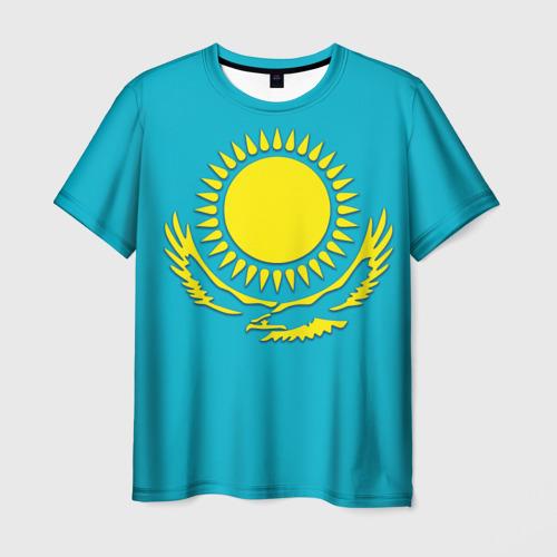 Мужская футболка 3D Казахстан