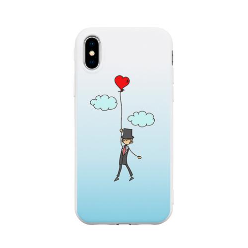 Чехол для iPhone X матовый Жених на шарике