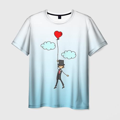Мужская футболка 3D Жених на шарике