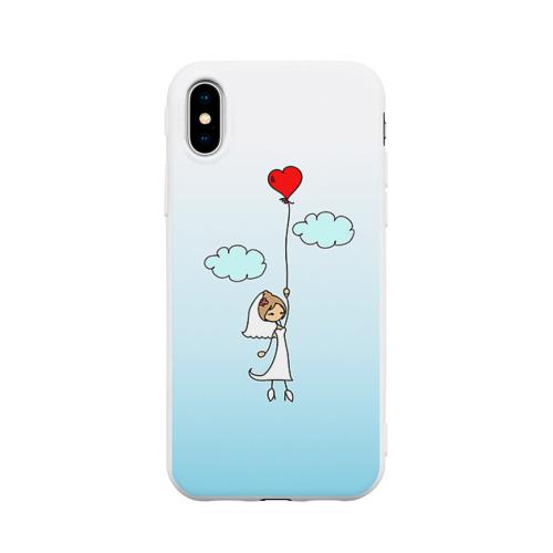 Чехол для iPhone X матовый Невеста на шарике