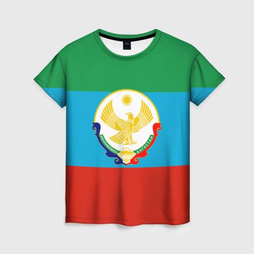 Женская футболка 3D Дагестан