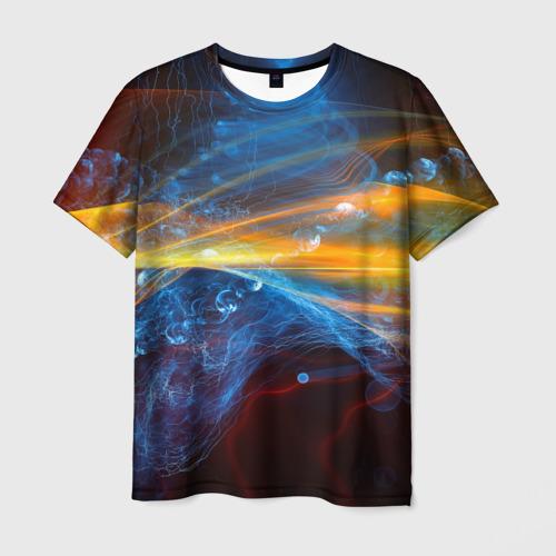 Мужская футболка 3D Свет