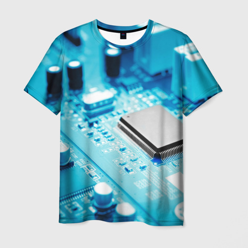 Мужская футболка 3D Материнская плата