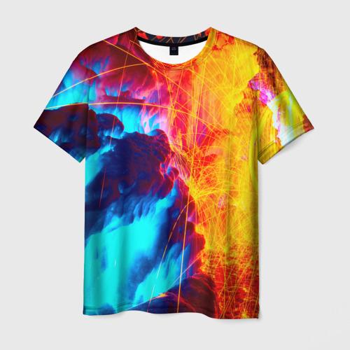 Мужская футболка 3D Вулканический