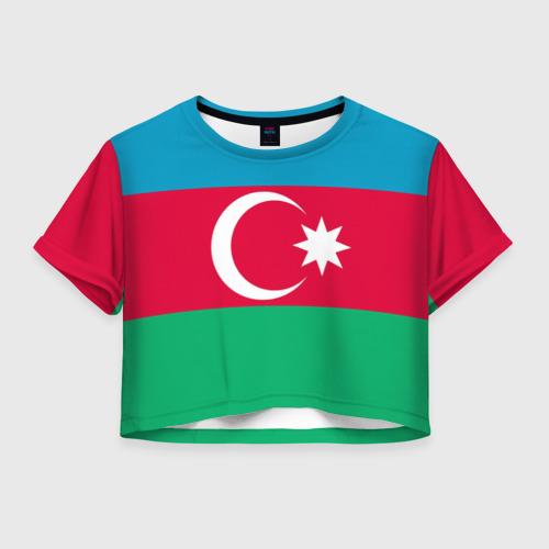 Женская футболка Crop-top 3D Азербайджан
