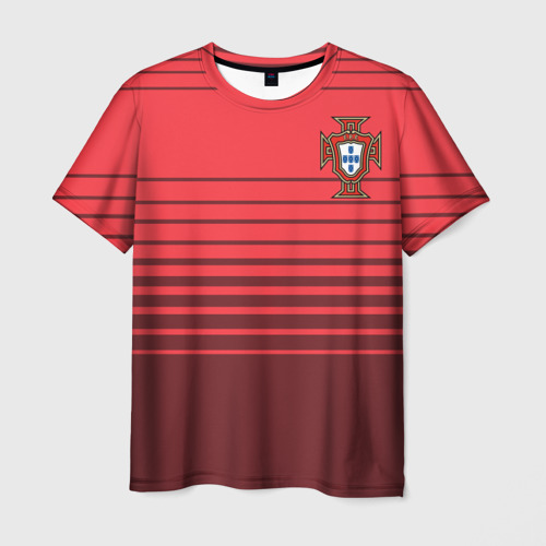 Мужская футболка 3D Сборная Португалии по футболу