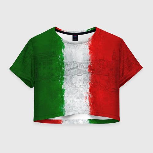 Женская футболка Crop-top 3D Италия