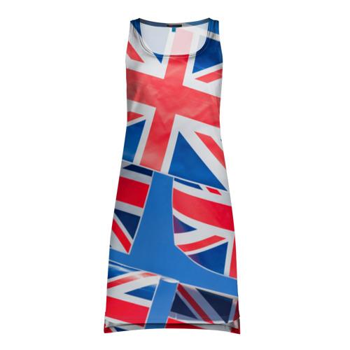 Платье-майка 3D Британские флаги
