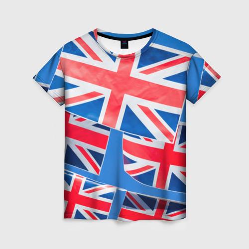 Женская футболка 3D Британские флаги