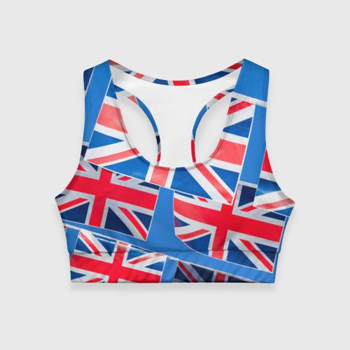 Женский спортивный топ 3D Британские флаги