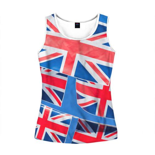 Женская майка 3D Британские флаги