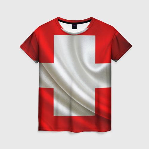 Женская футболка 3D Швейцария