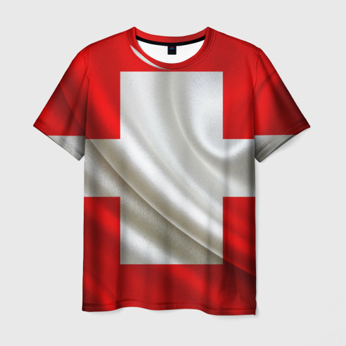 Мужская футболка 3D Швейцария