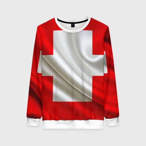 Женский свитшот 3D Швейцария