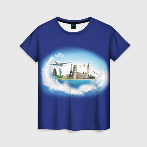 Женская футболка 3D Башни