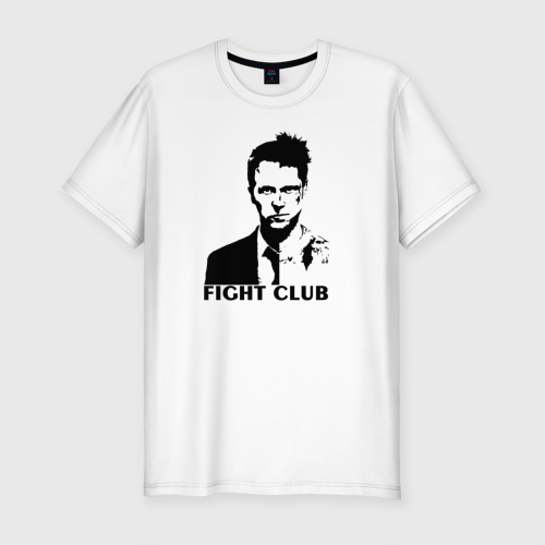 Мужская футболка хлопок Slim Бойцовский клуб FIGHT CLUB