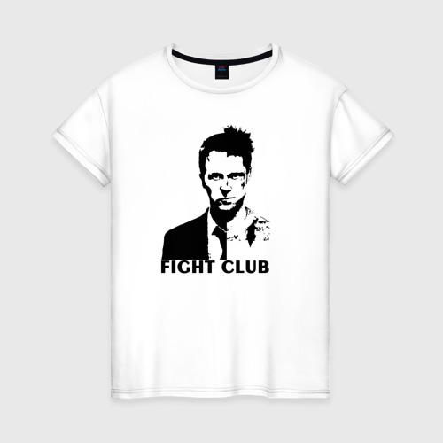 Женская футболка хлопок Бойцовский клуб FIGHT CLUB