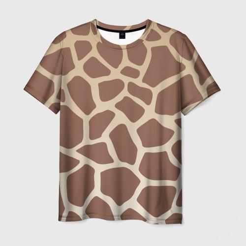 Мужская футболка 3D Жираф