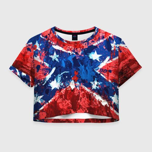 Женская футболка Crop-top 3D Флаг