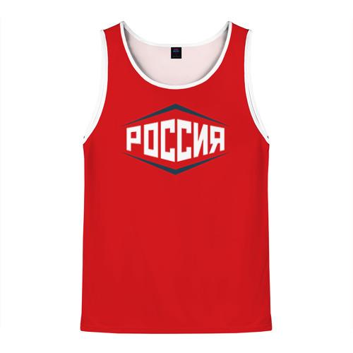 Мужская майка 3D Россия