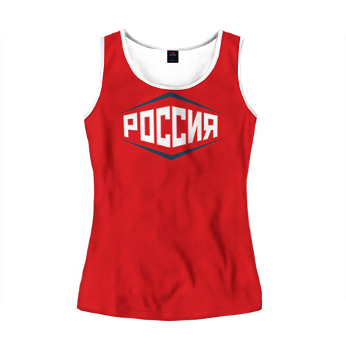 Женская майка 3D Россия