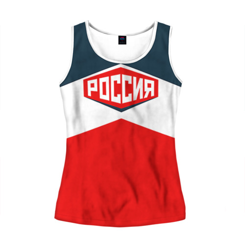 Женская майка 3D Россия СССР
