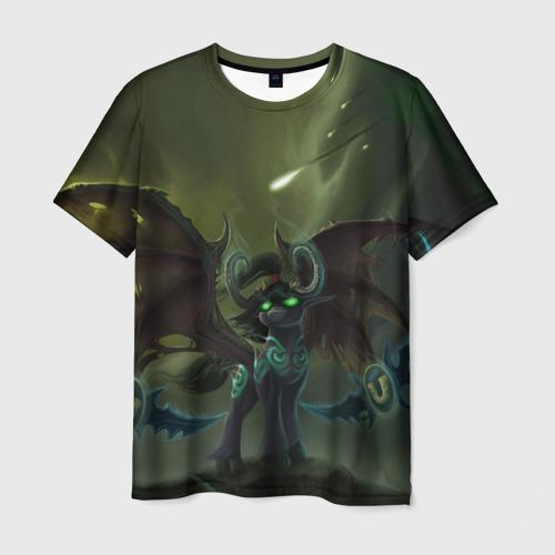 Мужская футболка 3D Иллидан Пони