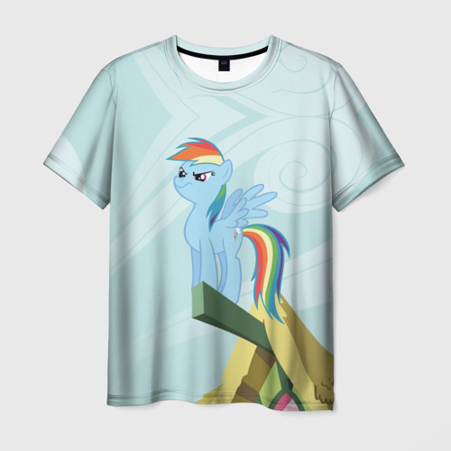 Мужская футболка 3D Rainbow