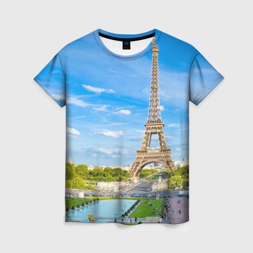 Женская футболка 3D Париж