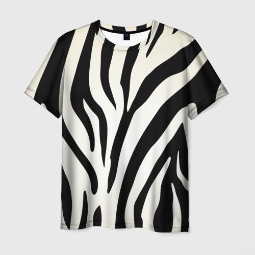 Мужская футболка 3D Раскрас зебры