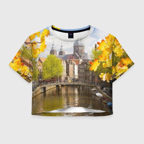 Женская футболка Crop-top 3D Amsterdam
