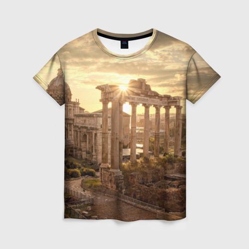 Женская футболка 3D Рим
