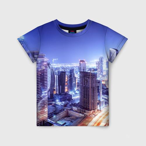 Детская футболка 3D Ночной Дубай